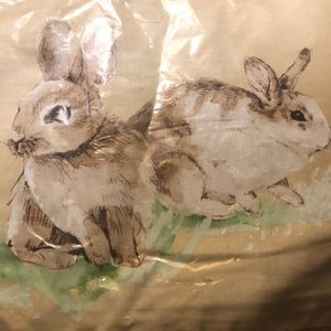 Pottery Barn Pasture Bunny 12 x 16 pillow cover